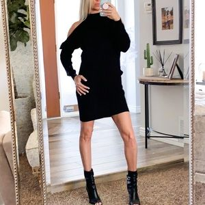 Dresses & Skirts - Nordstrom Cold Shoulder Black Sweater Dress